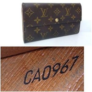 Authentic Louis Vuitton Sarah Long Monogram Wallet